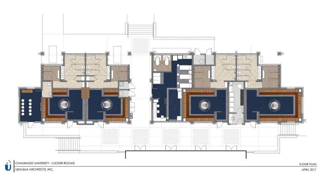 Athletics Training Center and Locker Rooms floor plan
