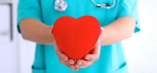 nurse with heart