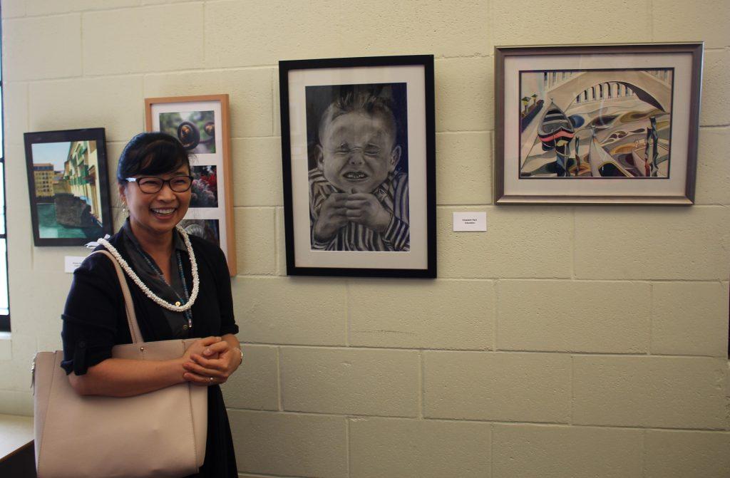 Elizabeth Park at Faculty Art Show