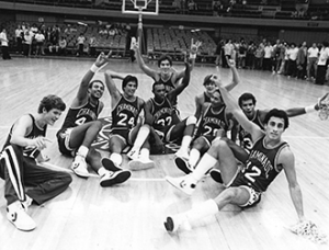 1982-83 Mens Basketball Team