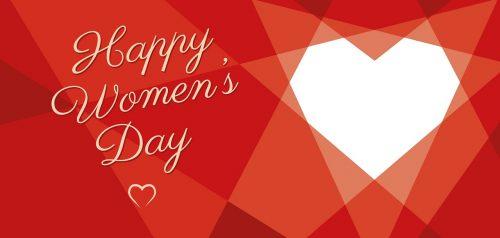 Women's Day Geometric Heart