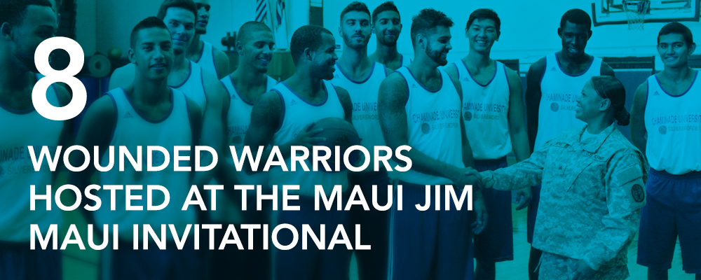 8 Wounded Warriors hosted at the Maui Jim Maui Invitational