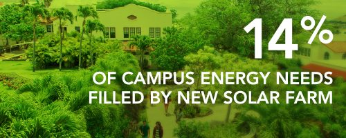 14% of campus energy needs filled by new solar farm