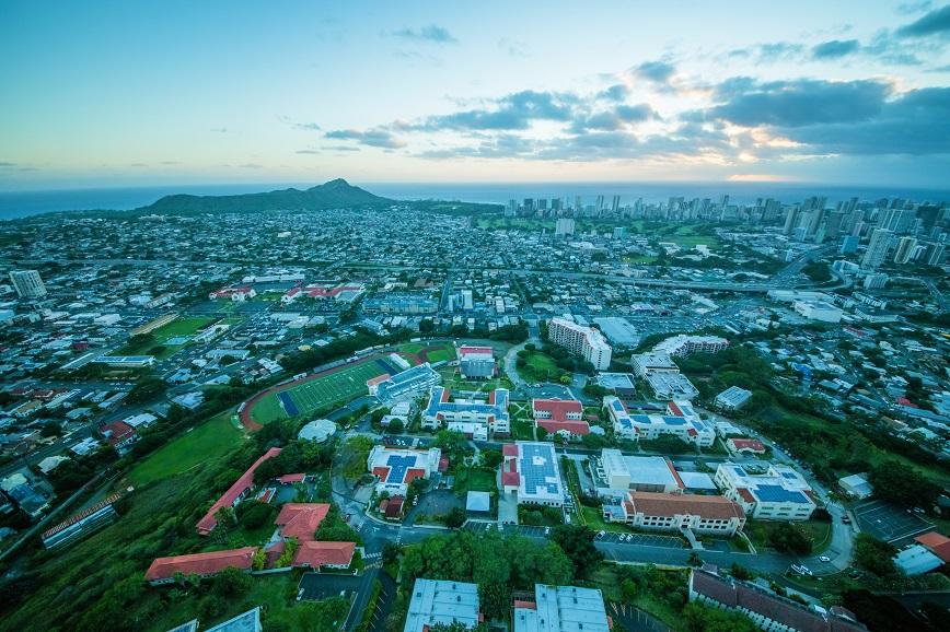 Aerial photo of Chaminade University