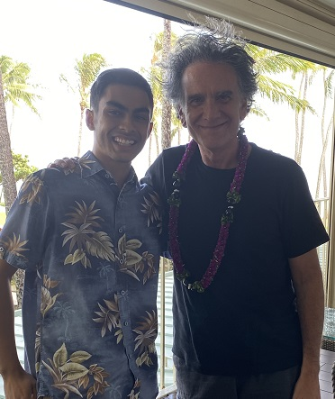 Elijah Abramo '21 and Peter Buffett