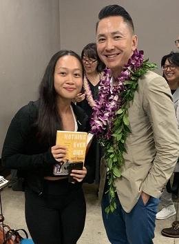 Jennifer Nguyen '22 with author Viet Thanh Nguyen