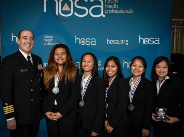 HOSA Club at a competition