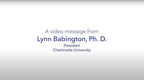 a message from President Lynn Babington