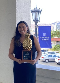 Laurel Oshiro, the 2020 Hawaii Catholic Schools Teacher of the Year awardee