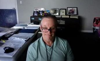 Gary Hogan speaking at the virtual Hogan Entrepreneurial Program virtual kickoff event
