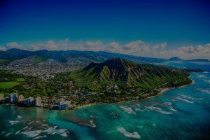 Aerial of Oahu, Hawaii