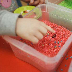 student in a montessori classroom