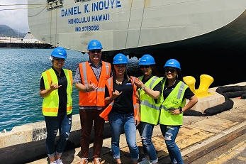 Anthony Shipp, MBA '19 (President and CEO of M. Dyer Global) with his crew
