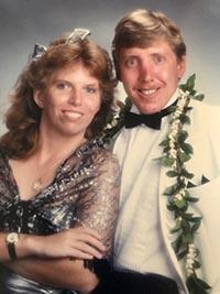 Kristine Stebbins '87 with her husband John Stebbins
