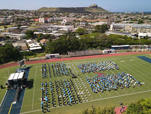 2021 Spring Commencement aerial photo
