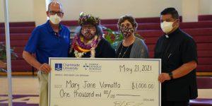 Hawaii Catholic Schools Teacher of the Year awardee Mary Vannatta