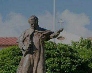 Father Chaminade statue Chaminade University