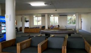 Seating and lounge in dorm common area Hale Lokelani at Chaminade