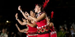 Pacific Island woman dance at Chaminade