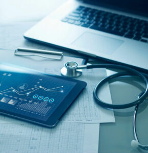 stethoscope computer iPad health professions nursing school