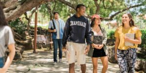 transfer students on Chaminade campus Honolulu