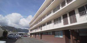 Exterior of Waialae Building student apartments Chaminade University of Honolulu